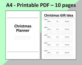 Christmas Planner Printable A5 2017 Holiday Planner A5 2017