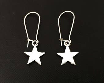 Star Earrings, Star Silver Earrings,Star Jewellery,Silver Jewelry,Minimal Jewelry,Gift for her, Everyday Jewelry Gift