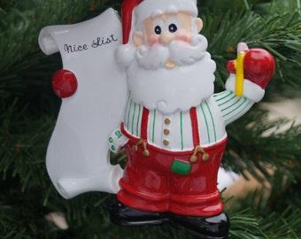 Personalised Christmas decoration, Santa's list decoration, family decoration, christmas decoration, santas good list, childs decoration