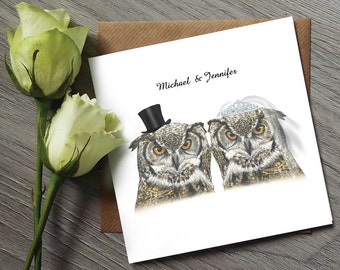 Owl Invitation - Funny Wedding Invitations - Owl Wedding Invitation - Funny Wedding Invitation - Owl invitations - Wedding Invitation UK