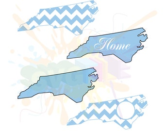 North Carolina SVG Files for Cutting State Cricut Designs - SVG Files for Silhouette - Instant Download