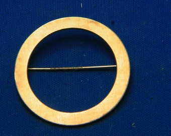 Vintage Van Dell 12K Gold Filled Circle Pin Brooch