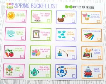 Spring Bucket List (Set of 16) Item #415