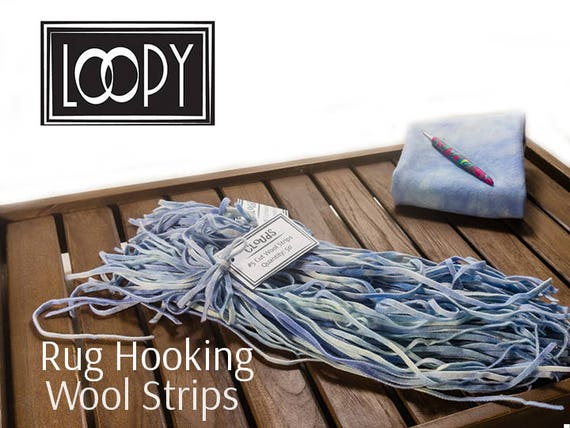 Rug Hooking Wool Strips Blue (Clouds), Hand Dyed Wool For Rug Hooking, 100%  Wool (50 Strips) From LoopyWoolSupply On Etsy Studio