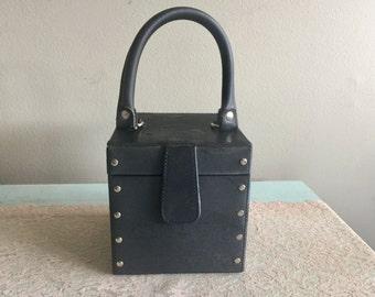 Black Vinyl travel jewelry case fabric jewelry box for travel