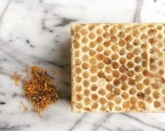 Nourishing Pure Honey and Calendula Soap