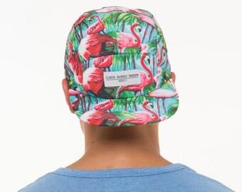Lizzie Jackson Designs Flamingo 5 Panel Snapback Cap Hat Free Shipping to AUS