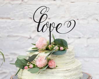 """Wedding and Engagement Acrylic Cake Topper - """"Love"""" (ARC1620) MADE IN Australia"""