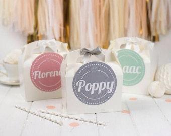 Personnalisé pour enfants activité faveur parti cadeau Box - mariage / fête d'anniversaire cadeau sac avec noeud