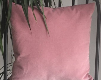 Blush Pink Velvet Cushion