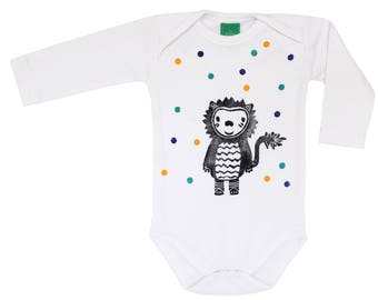 Long sleeve onesie confetti Tiger