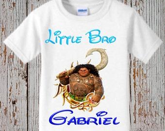 Moana Brother Shirt - Moana Sibling Shirt - Black Shirt Available