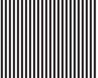 "1/4"" Black Stripe By Riley Blake Fabric, Black And White Stripes"