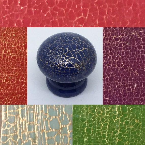 Dragon Egg Hand Painted Drawer Knobs, Cupboard Handles 6 Colours Available, 3 Sizes 30mm, 40mm, 53mm Gold Highlights