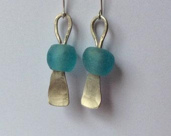 Long 925 silver earrings dangle earrings long statement earrings