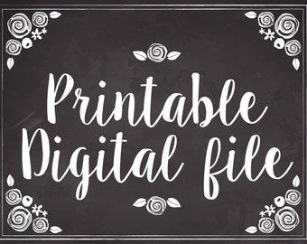 Printable Digital file - Customized Label