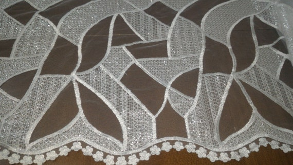 lace fabric, embroidered lace, French lace, lace wedding, Made Bridal lace, white lace, lingerie lace, Alencon lace