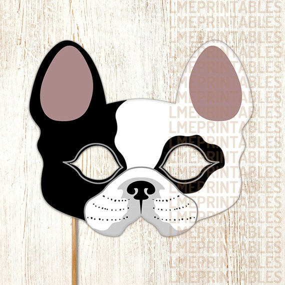 Massif image in printable dog masks