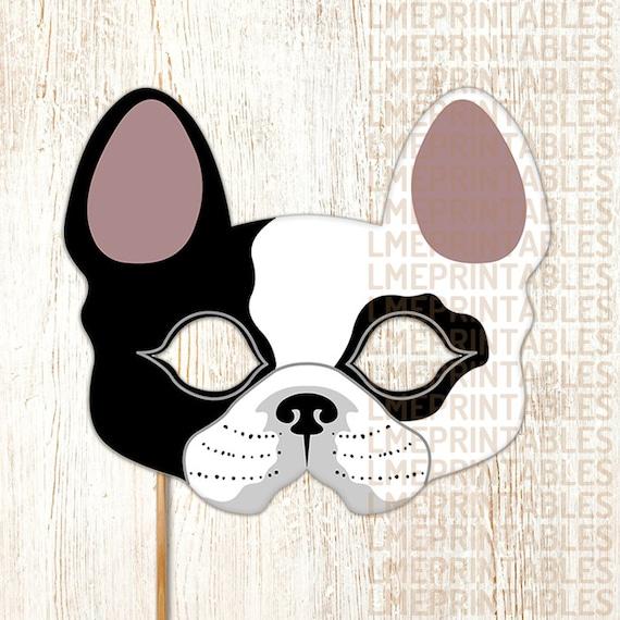 Nifty image within printable dog masks