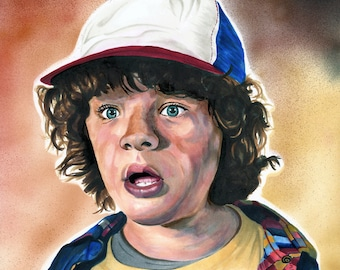 Portrait, Original Art, 8x10 Copic Marker Drawing, Dustin, Stranger Things, Character, Fine Art, Wall Art