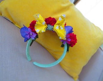 Spring/Summer Flowers and Bow Headband