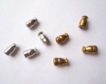 50 brass or silver tone stick pin clutches, Bulk vintage bullet pin stoppers