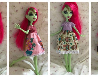 Kawaii dresses for Monster High and Ever After High dolls
