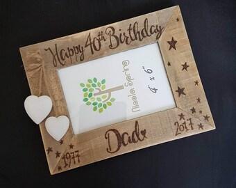 Personalised Photo Frame - Milestone Birthday/Anniversary Photo Frame