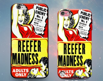 Rubber Case for iPhone 7 7 Plus iPhone 6s 6 Plus iPhone SE iPhone 5s 5 5c iPod Touch 6th 5th Gen Funny Adult Reefer Madness Vintage Poster