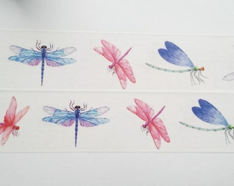 Design Washi tape Dragonfly watercolor insects