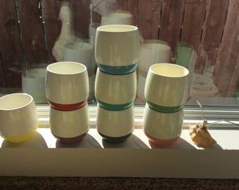 Multicolor Tumbler set of 8