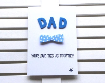Father's Day Card for Dad, Father's Day Card, Father's Day, Bowtie Card, Happy Father's Day, 3D Card for Dad, Cute Dad Card