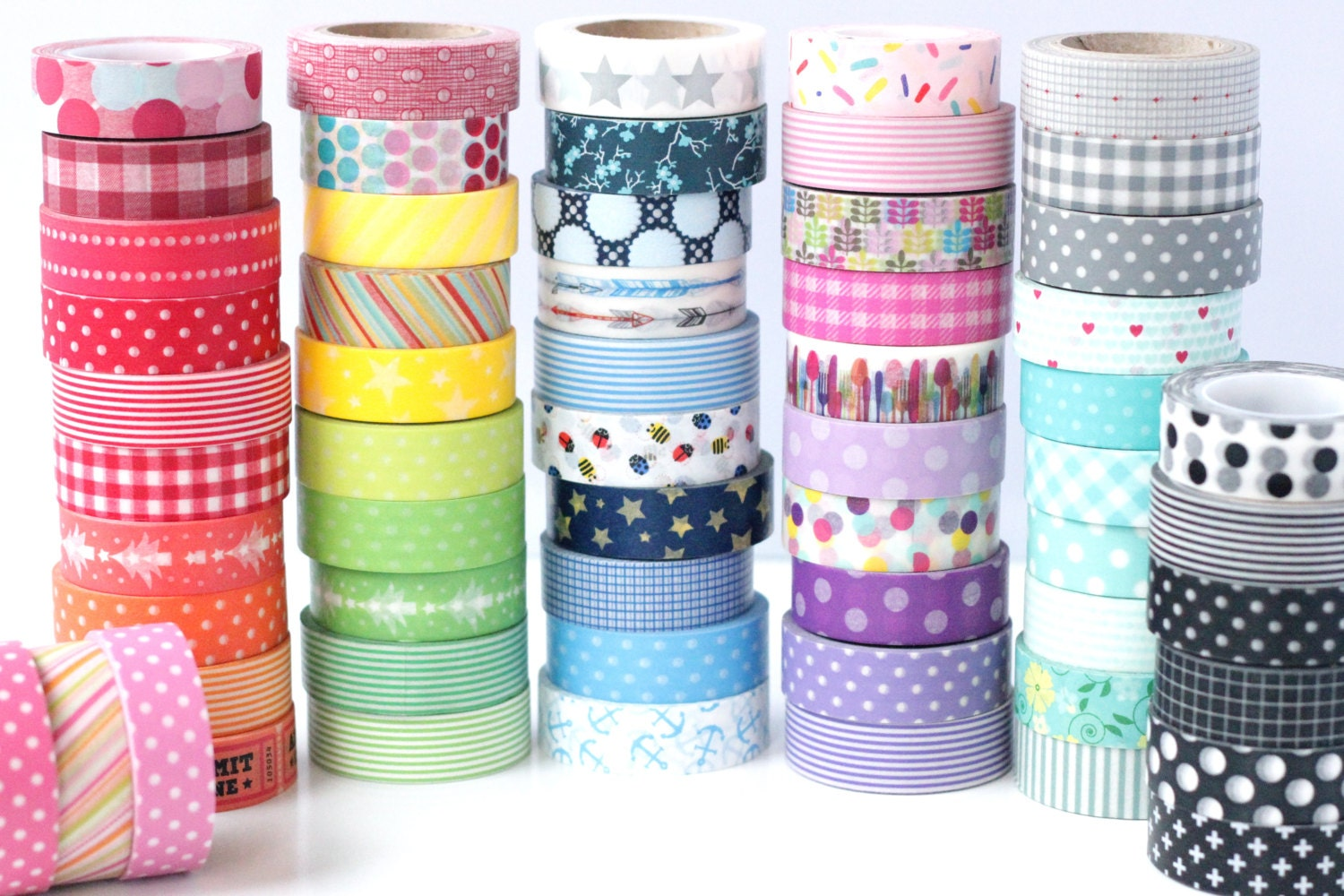 pick any 10 rolls of washi tape 85 choices stripes dots chevron grid floral vintage. Black Bedroom Furniture Sets. Home Design Ideas