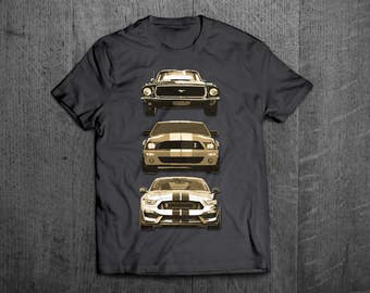Ford Mustang Shirts, Mustang old vs new T shirts, Shelby shirts Cars t shirts, men tshirts, women t shirts, muscle car shirts, Mustang