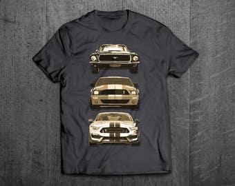 Ford Mustang Shirts, Mustang old vs new T shirts, Shelby shirts Cars t shirts, men tshirts, women t shirts, muscle car shirts, Mustang