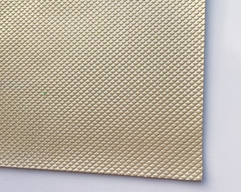 Gold Metallic Mermaid Scale Faux Leather