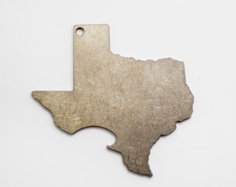 Texas Shaped Bottle Opener Keychain