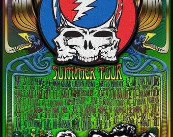 Dead & Co. Summer Tour 2017 Concept Poster