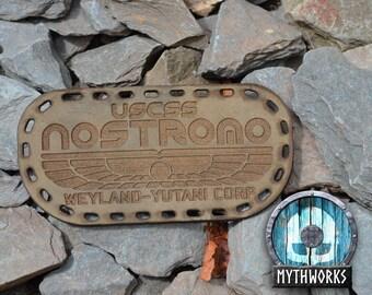 Nostromo Crew Patch – Khaki Leather Badge