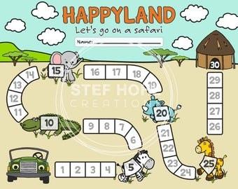 Printable Chore Chart, Reward Chart, Incentive Chart, Safari Chore Game – Happyland