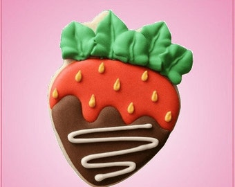 Chocolate Covered Strawberry Cookie Cutter