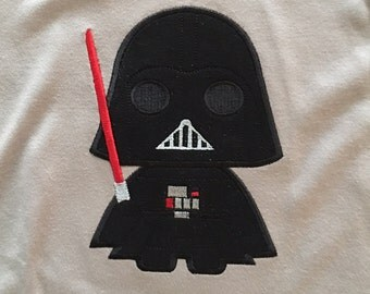 Darth Vader Appliqué Shirt, Star Wars Appliqué Shirt