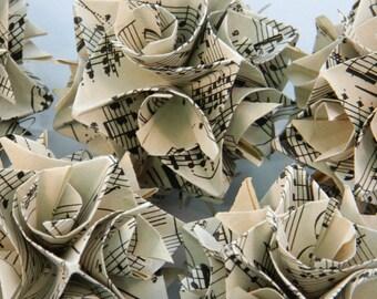 Vintage Music Origami Ornaments
