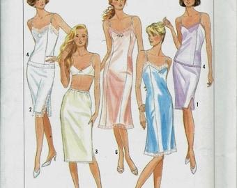 Vintage Simplicity Sewing Pattern No.  9374, Misses/Miss Petite Half Slip, Full Slip & Camisole, Multisize, Size 6-24 UNCUT FF (P050)