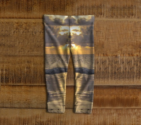 Aftican Sunrise Baby Leggings, Eco-Friendly and Printed from Original Photography