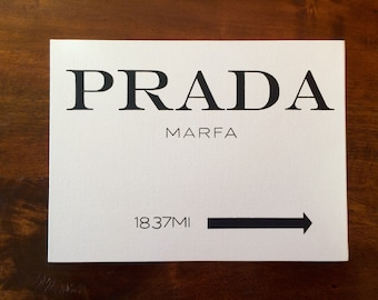 Prada Marfa Painted Canvas
