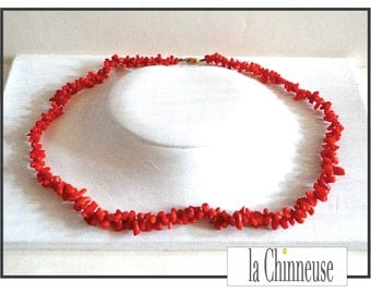 CORAL NECKLACE / coral /Vintage necklace coral necklace / real coral Branches.