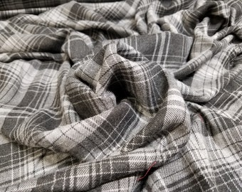 100% Cotton Grey Flannel