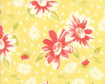 Moda Coney Island Quilt Fabric 1/2 Yard By Fig Tree & Co Buttercup Yellow 20280 14