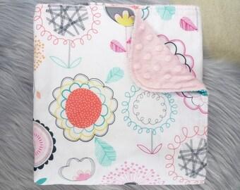 Baby Blanket, Baby Girl Gift, Baby Girl, Baby Shower Gift, Nursery Decor - Floral